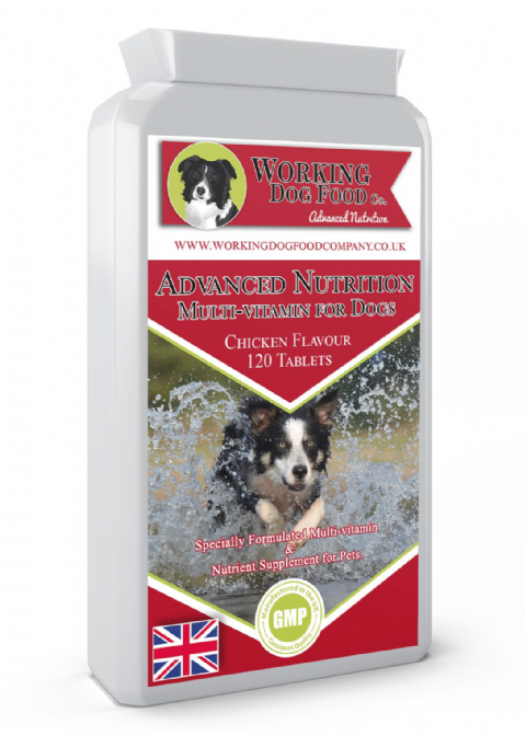 Advanced Nutrition Multi-vitamin for Dogs 120 Chicken Flavour Tablets